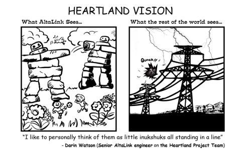 Clark park cartoon inukshuk