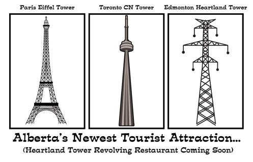 Clark's cartoon 3 towers