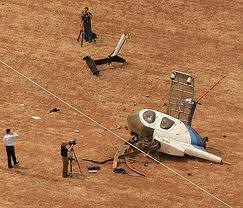 RETA helicopter crash high voltage power line image