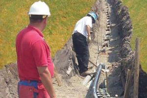 RETA burying lines construction photo