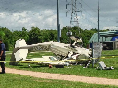RETA airplane crash into transmission line image 2