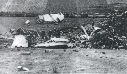 RETA airplane crash KLM oct 20 1948 power line image