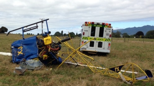 RETA helicopter crash power lines NZ image