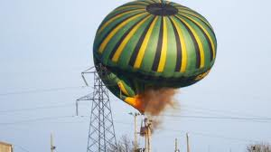 RETA hot air balloon crash into transmission line image