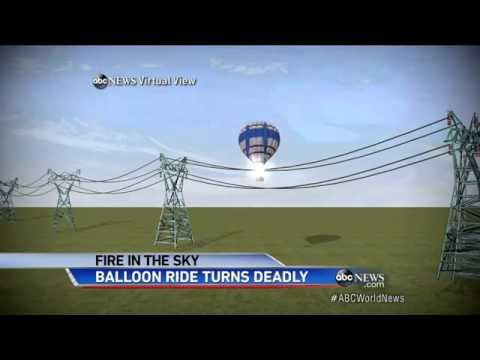 RETA hot air balloon crash into transmission lines image